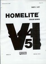 A Homelite ( Vi 944 & Vi 955) Chainsaw Parts List & Repair Dia. Copy