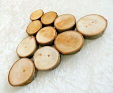 10 Holzscheiben aus Kastanienholz Baumscheiben  7cm x 2cm Deko  Natur Bastelholz