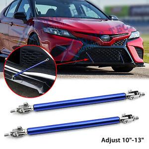 "For Toyota 86 Camry Adjust 10""-13"" Blue Front Bumper Lip Strut Rod Support Bars"