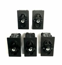 5 Pack Carling Technologies Sealed Rocker Switches ON – OFF SPST. V1D1-B60B-0...
