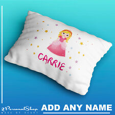 Personalised Children Princess Pillowcase Printed Gift Custom Made Print Kids
