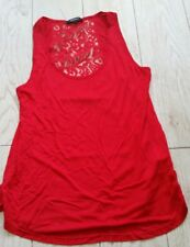 Ambiance Apparel Shirt Tank Top size large L - red