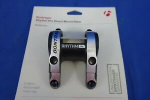 New Bontrager Rhythm PRO Direct Mount Bike Stem - 47mm x 31.8mm x  11mm Rise