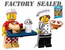 NEW LEGO 71018 Minifigures Series 17 Hot Dog Vendor & Gourmet Chef LOT packs bag