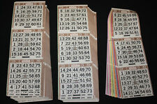 BINGO PAPER Cards sheets 3 on 10 Brown Bdr 50 packs FREE SHIP