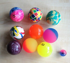 EXTRA LARGE 60MM Bouncy balls Party Bag FUN gifts pets etc Assorted colours