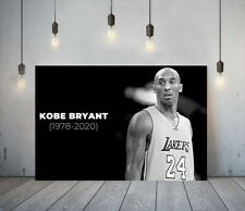 KOBE BRYANT 3 -DEEP FRAMED CANVAS SPORT WALL ART PICTURE PAPER PRINT-BLACK WHITE