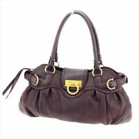 Salvatore Ferragamo Tote bag Ganchini Brown leather Woman Authentic Used T7486
