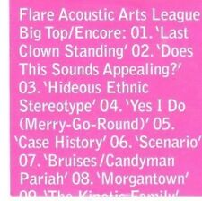 (CC268) Flare Acoustic Arts League, Big Top/Encore - 2011 DJ CD