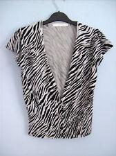 Cardigan Donna Bolero Stile Grigio e nero Zebra Print da AMARANTO TG UK 12