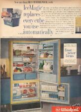 1960's WHIRPOOL REFRIGERATOR AD Frost Never Forms