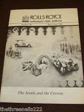 ROLLS ROYCE ENTHUSIASTS BULLETIN #149 - MARCH 1985 JEWELS & CROWNS
