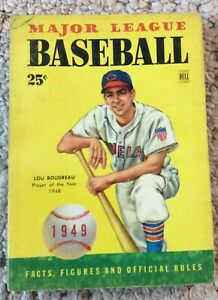1949 Dell Major League Baseball Facts Figures & Stories Of Stars Lou Boudreau