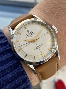 Tudor Automatic Oyster Prince 34 Mens steel smiley serviced vintage 34mm watch