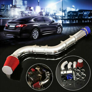"""76mm/3"""" Alumimum Car Cold Air Intake Filter Induction Kit Pipe Hose System Set"""