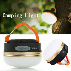 300LM Bright Night Lamp USB Rechargeable LED Camping Light Tent Lantern Outdoor