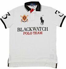 ***LARGE***Ralph Lauren Polo Men's S/S Custom Fit Blackwatch Mesh Polo Shirt