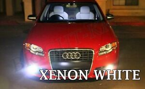Audi A3 A4 B7 8P 8PA Foglight Xenon White Bright 6000K Fog Light LED Bulbs