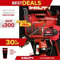HILTI TE 30 HAMMER DRILL, PREOWNED, L@@K NICE CONDITION, FAST SHIP., FREE ITENS