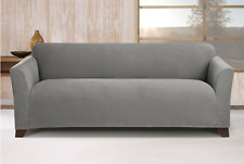 Stretch Maya Sofa Slipcover Gray - Sure Fit