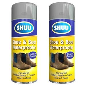 Waterproof Shoe &Boot Spray Leather Suede Canvas Shoe Rain Protection 300ml 1&2X