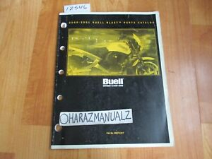 2000 2001 BUELL Blast Official Factory Parts Catalog Book Manual