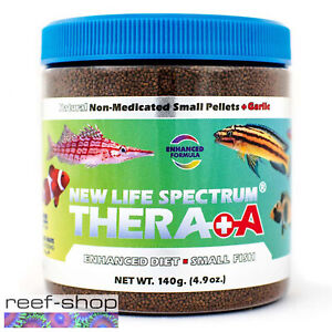 New Life Spectrum THERA +A Small Pellet 140g Fish Food Fast Free USA Shipping