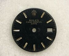 Gold Stick Hour Marks Part 6917 Rolex Lady Date 26mm Black Dial