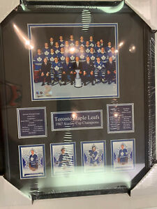 TORONTO MAPLE LEAFS STANLEY CUP CHAMPIONS 1967 16X20 FRAME - BOWER SAWCHUK