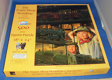 500 Piece Puzzle titled The Train Shop Window.