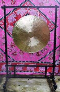 """Traditional Wind Gong Feng 24""""(60cm) or 38""""(97cm) with stand, bag and beater"""