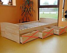Kinderbett Funktionsbett Einzelbett Kojenbett Jugendbett 100x200 VOLL-MASSIVHOLZ