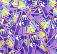kawaii illuminati pastel goth all seeing eye vinyl sticker