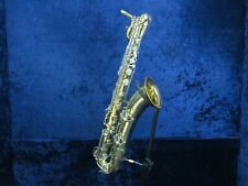 CG Conn 12M Naked Lady Baritone Saxophone Ser#754340 X Brace Cut Tone Holes