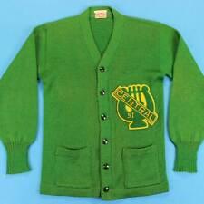 Homme Varsity Letterman Vintage Cardigan TAILLE XS/S 50s University Pull
