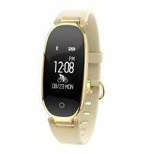 Women Fitness Activity Tracker Smart Bracelet (Gold)