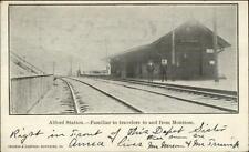 Alford PA RR Train Station c1910 Postcard