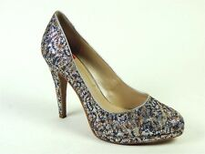 Nine West Women's Rocha Shoes Grey Multi Fawn Glitter Classic Pumps Size 7