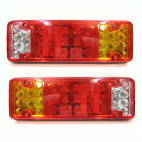 2x 24V 31 LED Rear Tail Lights Stop Truck Lorry Trailer For Scania Daf Man Iveco