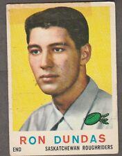 1959 TOPPS CFL RON DUNDAS SASKATCHEWAN ROUGHRIDERS #79 (REGINA RAMS JR)