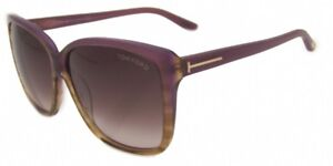 Tom Ford Lydia Sunglasses Purple Frame Gradient Lens FT228 83Z 62-12-135