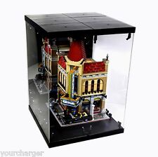 Acrylic Display Case LED Light Box for Lego Modular Building Cafe Corner 10182