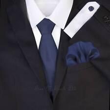Azul Noche Boda Corbata Set - Solid Formal corbata Juegos - GB Hombre corbata