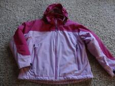 $119 NWT Lands End Womens Boiled Wool Bomber Aviator Jacket Pink 10 Pet 12 Reg