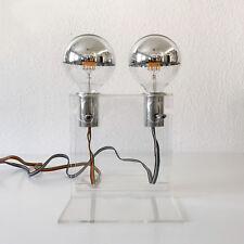 RARE Mid Century LUCITE TABLE LAMP Desk Light LIGHT OBJECT, 1970s, Germany