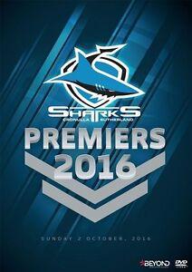 NRL: Premiers 2016 - Sharks Cronulla Sutherland (DVD, 2016) New & Sealed R4