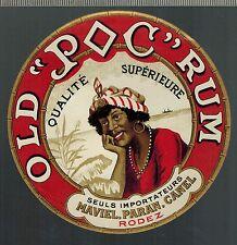 Etiquette d'Alcool - Rhum - Old  Rum - Maviel Paran Canel - Réf.n°337