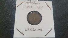 Netherlands 1948 - 1 cent Queen Wilhelmina coin.