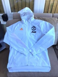 Adidas Manchester United Football Rain Jacket Size Medium Brand New Without Tags