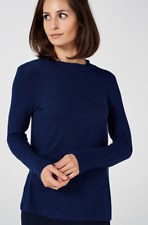 Kim & Co Brushed Lux Sweater Knit Keyhole Top, Size 2XL, Navy, BNWT